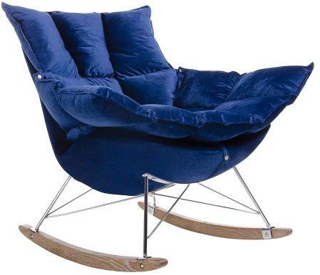Fotel bujany Swing Velvet granatowy