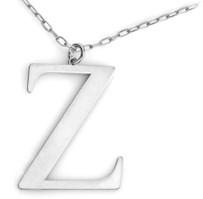 Naszyjnik srebrny z literką Z modny na czasie