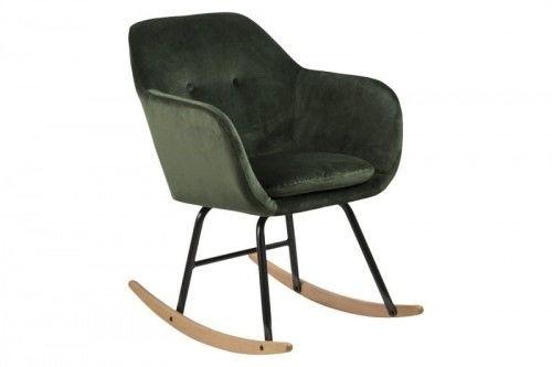 Fotel bujany Emilia VIC ciemny zielony