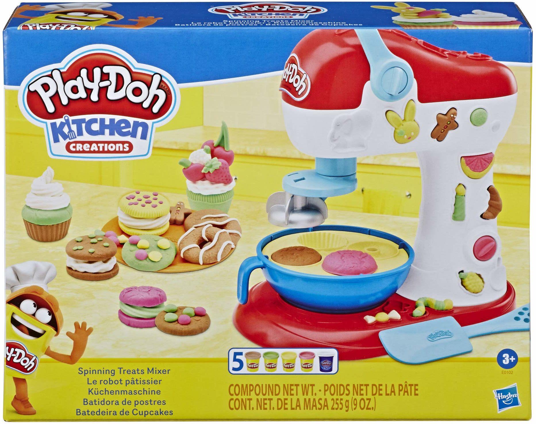 Play Doh Kitchen Mikser, zabawkowy przyrząd kuchenny dla dzieci w wieku od 3 lat z nietoksyczną ciastoliną Play-Doh w 6 kolorach