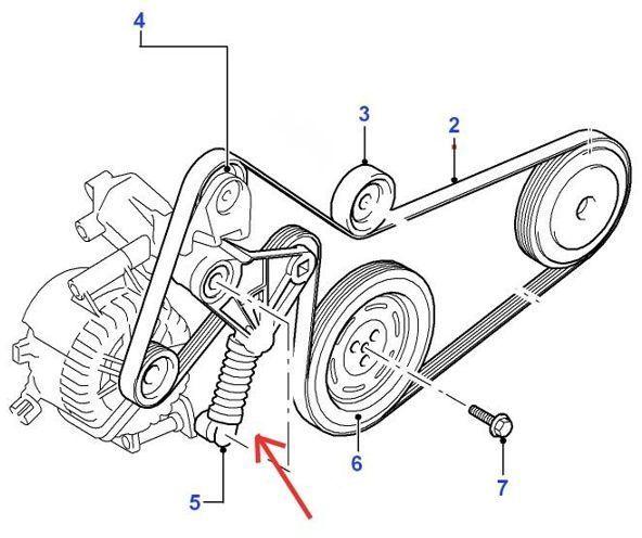 napinacz paska napędowego alternatora SNR - TDDI/TDCI