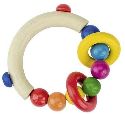 Siedem kolorowych korali - grzechotka dla dzieci, 734300-Heimess - zabawki dla niemowlaków