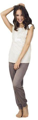 Esotiq dakar 33584-84x beżowa piżama damska