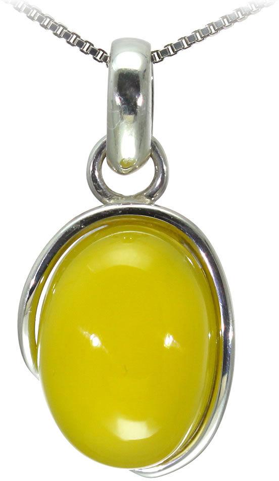 Kuźnia Srebra - Zawieszka srebrna, 32mm, Żółty Onyks, 6g, model