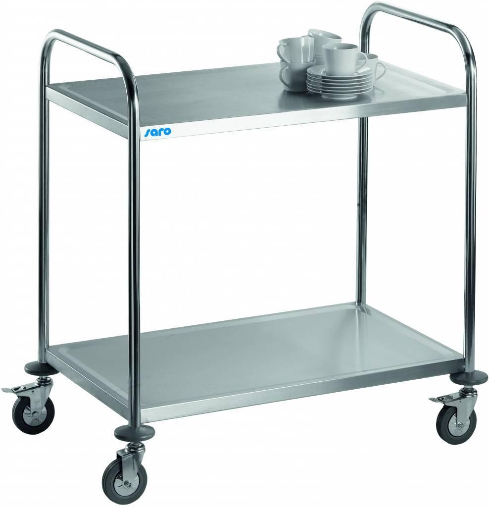 Wózek kelnerski 2-półkowy ze stali nierdzewnej 860x540x(H)940mm
