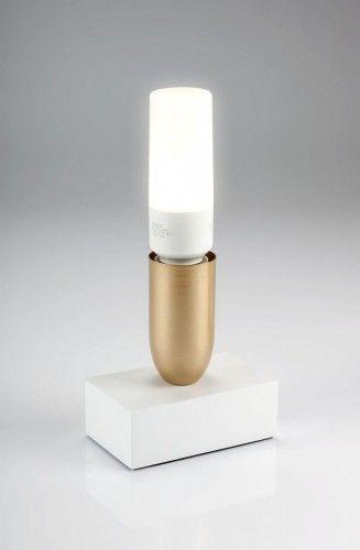 Lampa stołowa VIG 1pł WH LS-MT1671-BIAŁA Auhilon oświetlenie w odcieniach bieli i mosiądzu