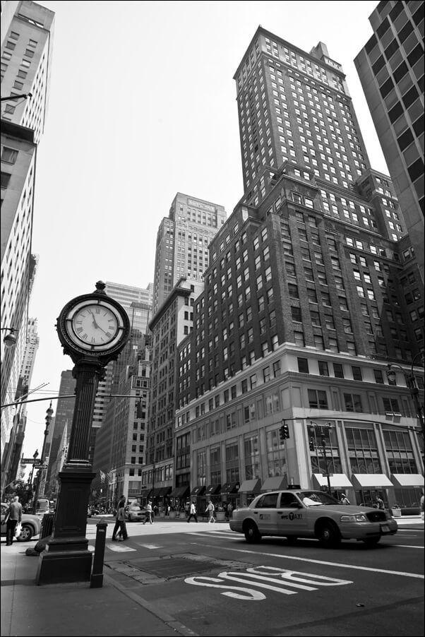 New york, zegar - plakat wymiar do wyboru: 50x70 cm