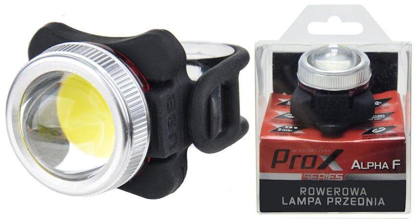 Lampa przednia /akumulator/ PROX ALPHA F COB LED USB biała