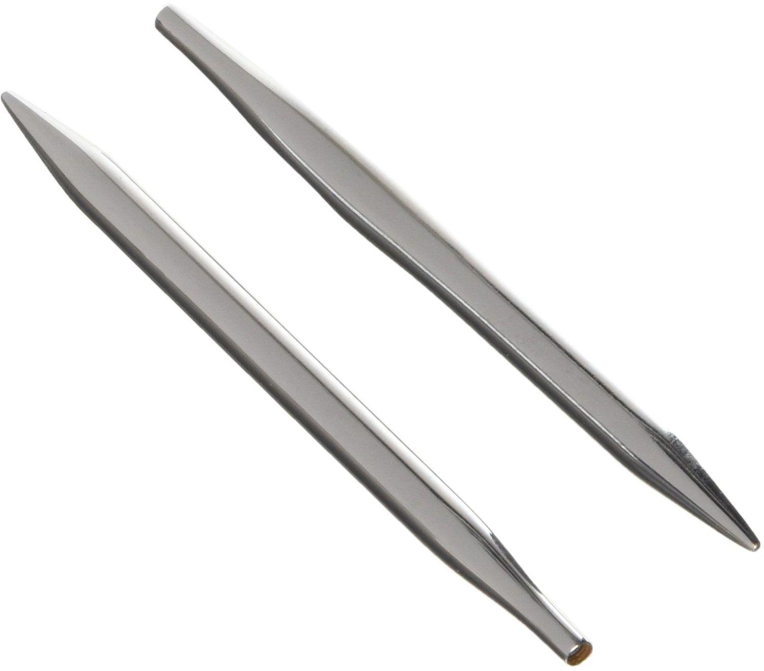 KnitPro kp10402 końcówki drutów do robienia na drutach, 1501 normalne drewno srebrne, mosiądz metal, wielokolorowe, 47,5 x 1,3 x 5 cm