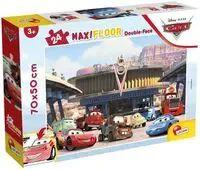Puzzle podłogowe dwustronne Maxi 24 Disney Auta - Lisciani