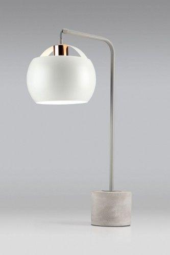 Lampa stołowa TARGA 1pł LS-MT1699 Auhilon oświetlenie w odcieniach szarości i miedzi