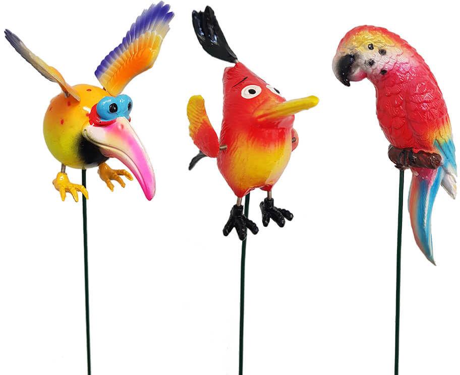Ptaki - ozdoby na piku