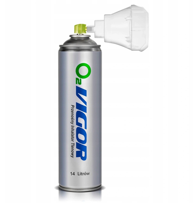 Tlen inhalacyjny skoncentrowany w sprayu Tlen inhalacyjny w puszce do 99% stężenia