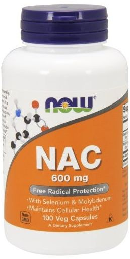 Now Foods NAC N-Acetylocysteina 600 mg - 100 kap.