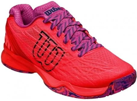 Wilson Kaos Clay Court - fiery coral/fiery red/ros