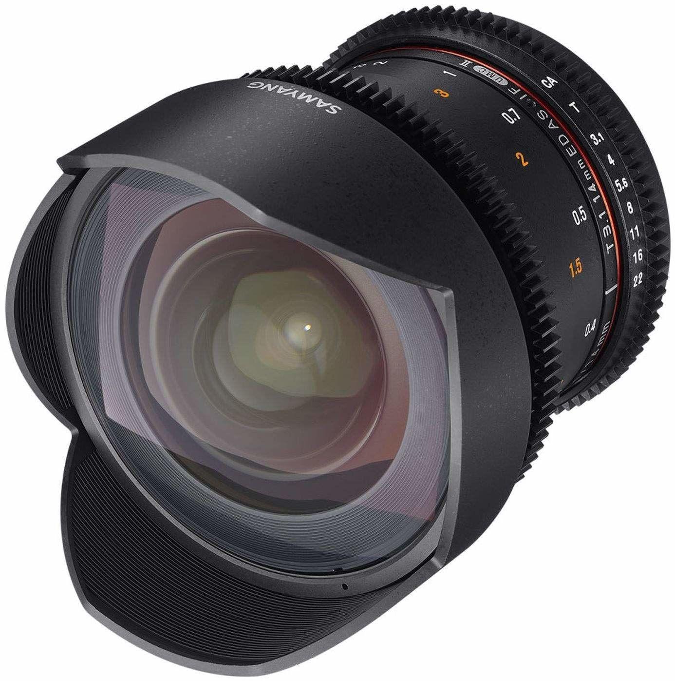 Samyang 14 mm T3.1 VDSLR II Ręczna regulacja ostrości obiektywu wideo do kamery mikro cztery trzecie