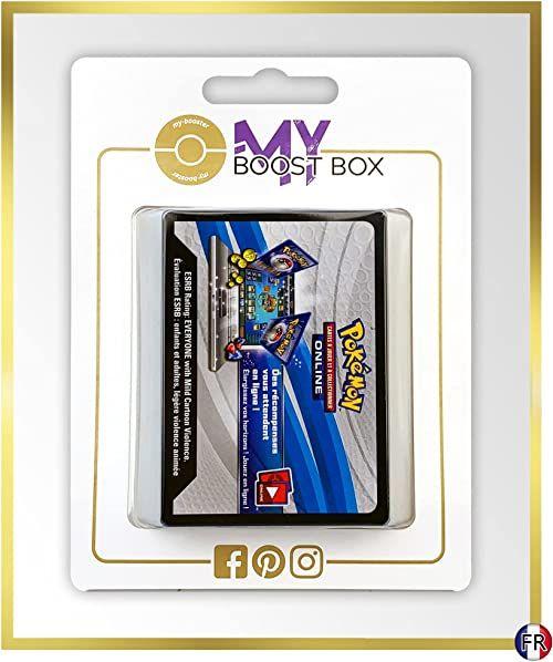 Box Myboost zawierające 25 kartami z kodem Pokémon Online