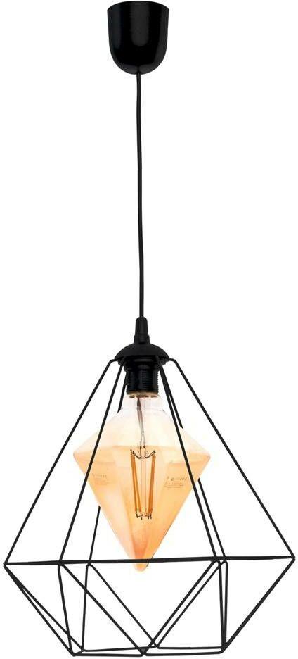 Lampa wisząca ALAMBRE BLACK 1xE27 4W żarówka w zestawie