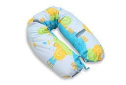 MAMO-TATO Poduszka dla ciężarnych kobiet Ślimaki w błękicie