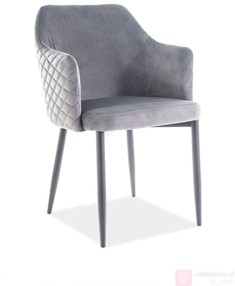 Krzesło ASTOR VELVET Signal Szary