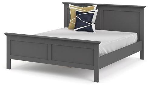 Romantyczne łóżko paris 160x200 cm szary mat