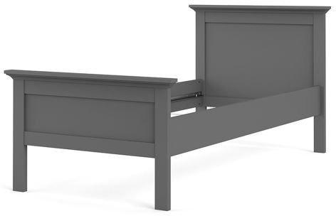 Romantyczne łóżko paris 90x200 cm szary mat