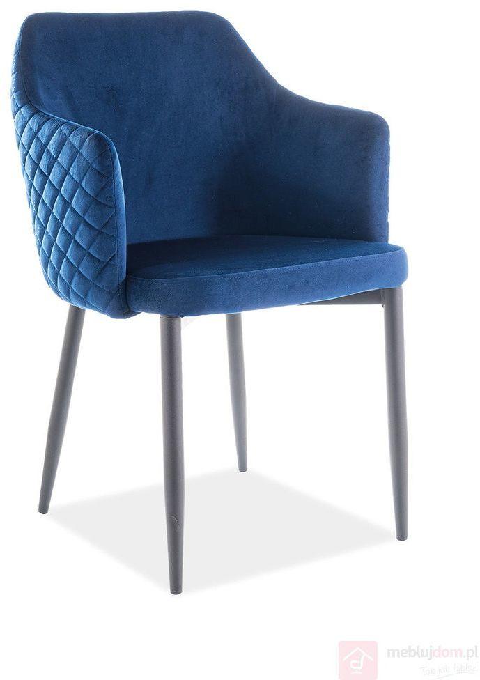 Krzesło ASTOR VELVET Signal Granatowy