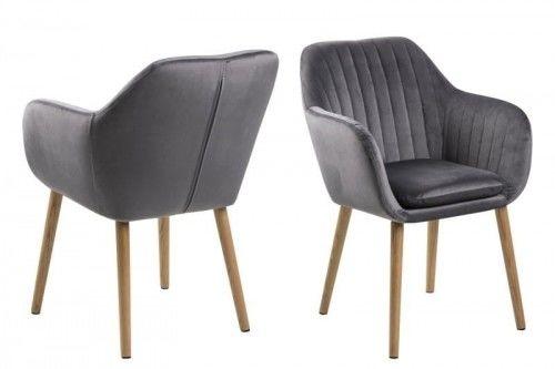 Krzesło Emilia Velvet szare