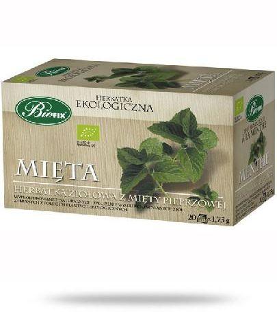 BiFix Herbata mięta - ekologiczna ekspresowa 20 saszetek