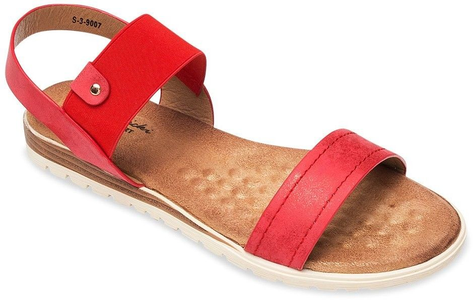 Sandałki damskie Skotnicki S-3-9007 Czerwone