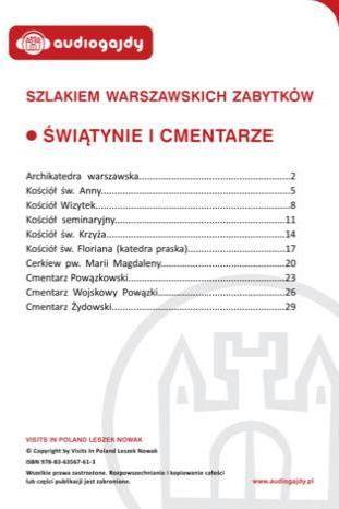 Świątynie i cmentarze. Szlakiem warszawskich zabytków - Ebook.