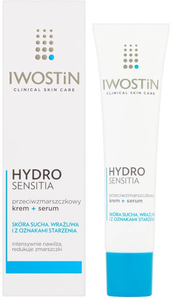 Iwostin hydro sensitia przeciwzmarszczkowy krem + serum 40 ml