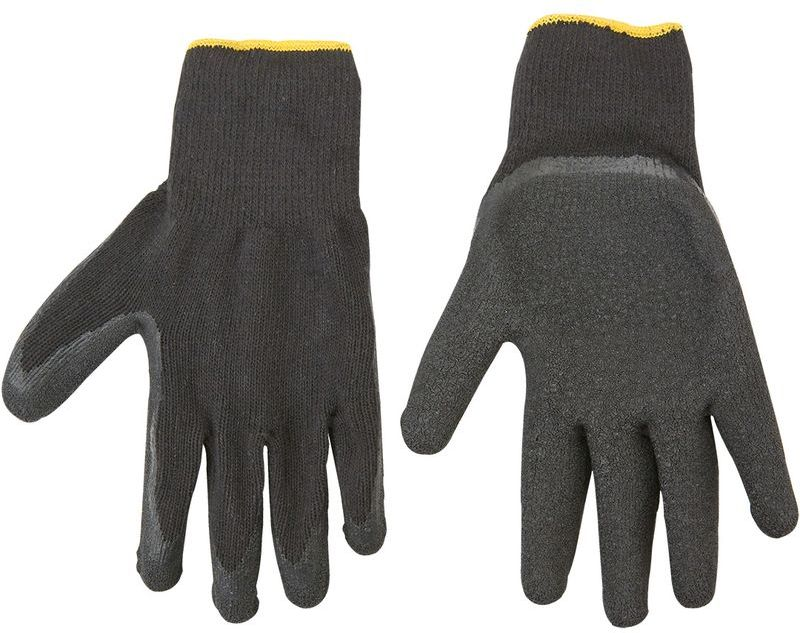 Rękawice robocze dzianina bawełniana powlekana lateksem rozmiar 10, 83S213