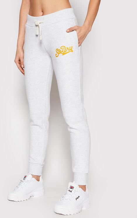 Superdry Spodnie dresowe Collegiate Scripted W7010437A Szary Slim Fit