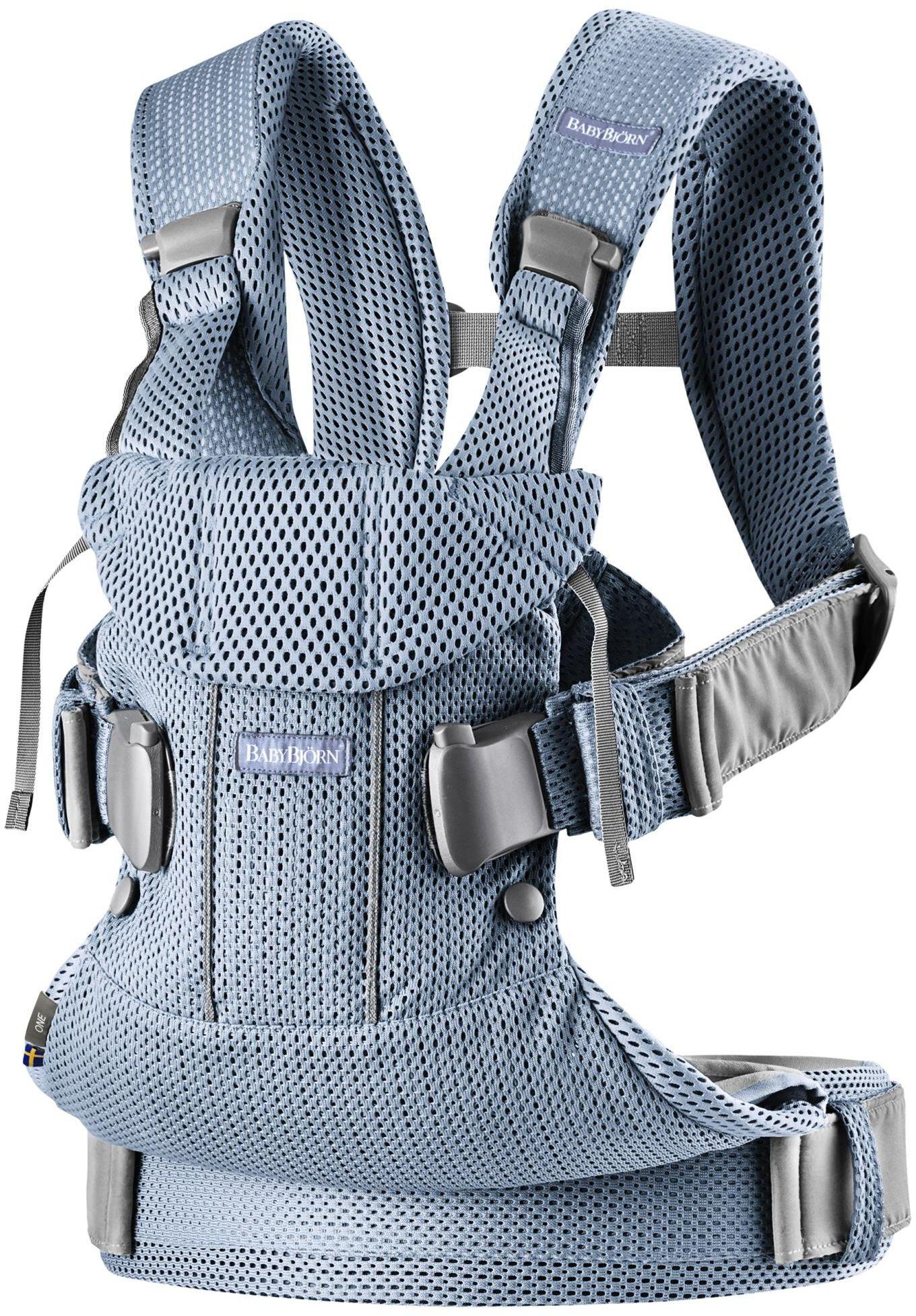 BABYBJORN ONE AIR 3D MESH - nosidełko, Niebieski
