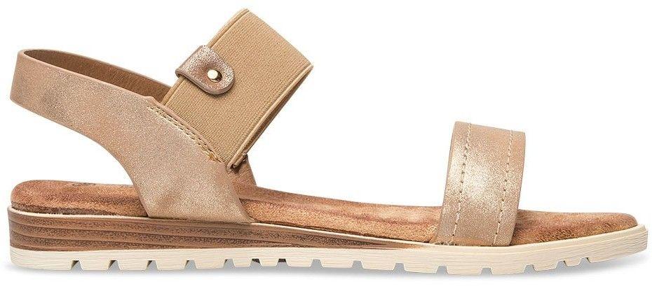 Sandałki damskie Skotnicki S-3-9007 Złote