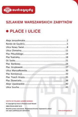 Place i ulice. Szlakiem warszawskich zabytków - Ebook.