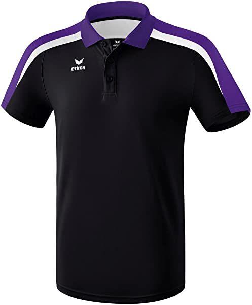 Erima 116 dziecięca koszulka polo, czarna/fioletowa/biała, 116