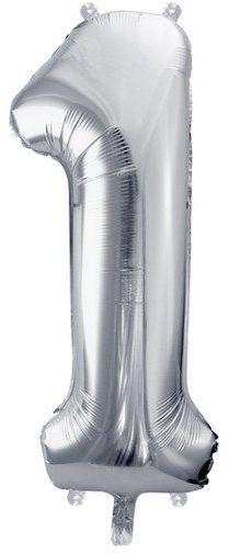 Balon foliowy 1 srebrny 86cm 1szt FB1M-1-018