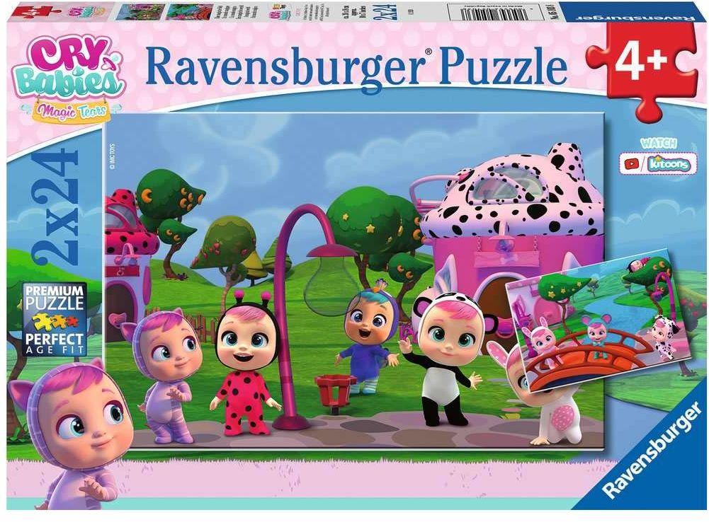 Ravensburger Puzzle 5103 Cry Babies 2X24 Elementy Puzzle Dla Dzieci (5103) Unikalne Elementy, Technologia Softclick - Klocki Pasują Idealnie