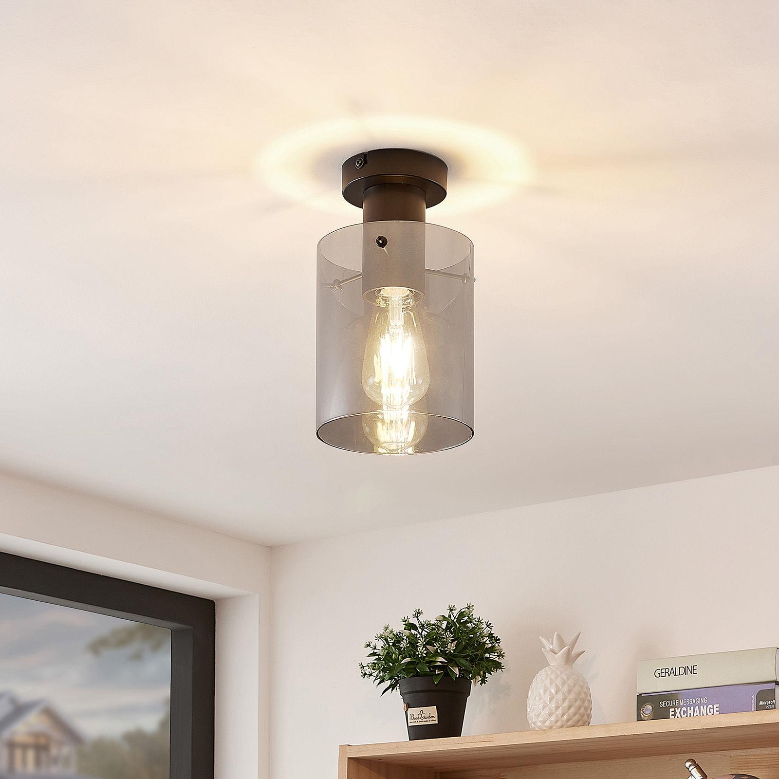 Lindby Kourtney lampa sufitowa ze szklanym kloszem