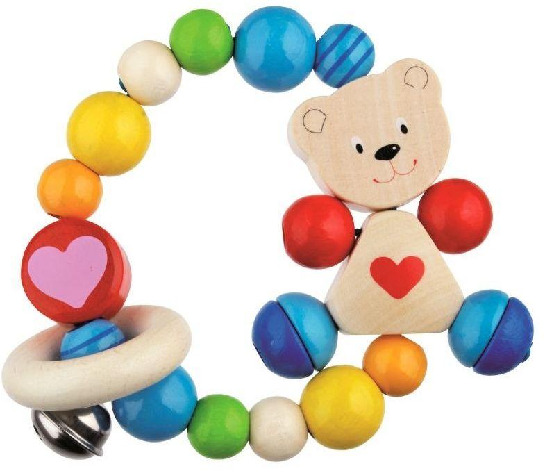 Miś Czerwone Serce - grzechotka dla dzieci, Heimess - zabawki dla niemowlaków
