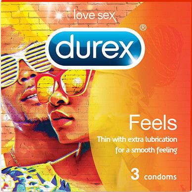 Durex Feels Prezerwatywy z nawilżeniem - 3 sztuki