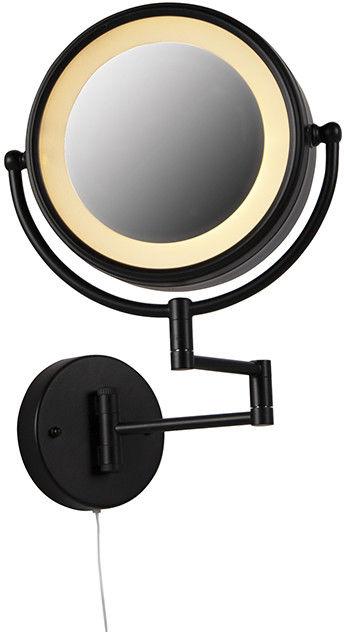 QAZQA Designerskie lustro łazienkowe czarne regulowane LED IP44 ze sznurkiem - Vicino