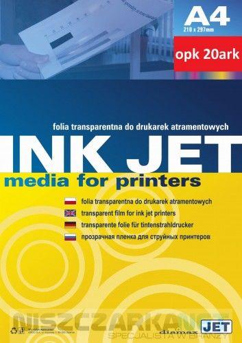 Folia do drukarek atramentowych A4 opk 20 szt.