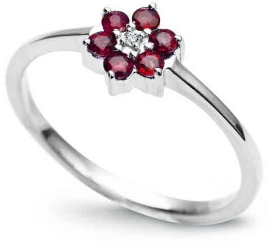 Złoty pierścionek PBD1170 - Diament