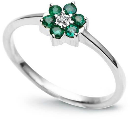Złoty pierścionek PBD1171 - Diament