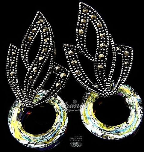 Kryształy kolczyki AURORA ADMIRE SREBRO