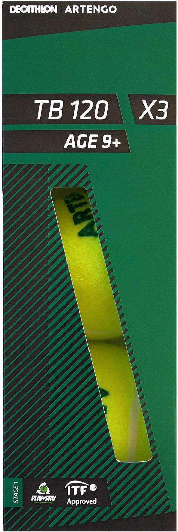 Piłka do tenisa Artengo TB120 x3