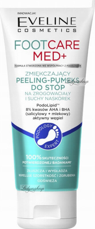 Eveline Cosmetics - FOOT CARE MED+ - Zmiękczający peeling-pumeks do stóp - 100 ml